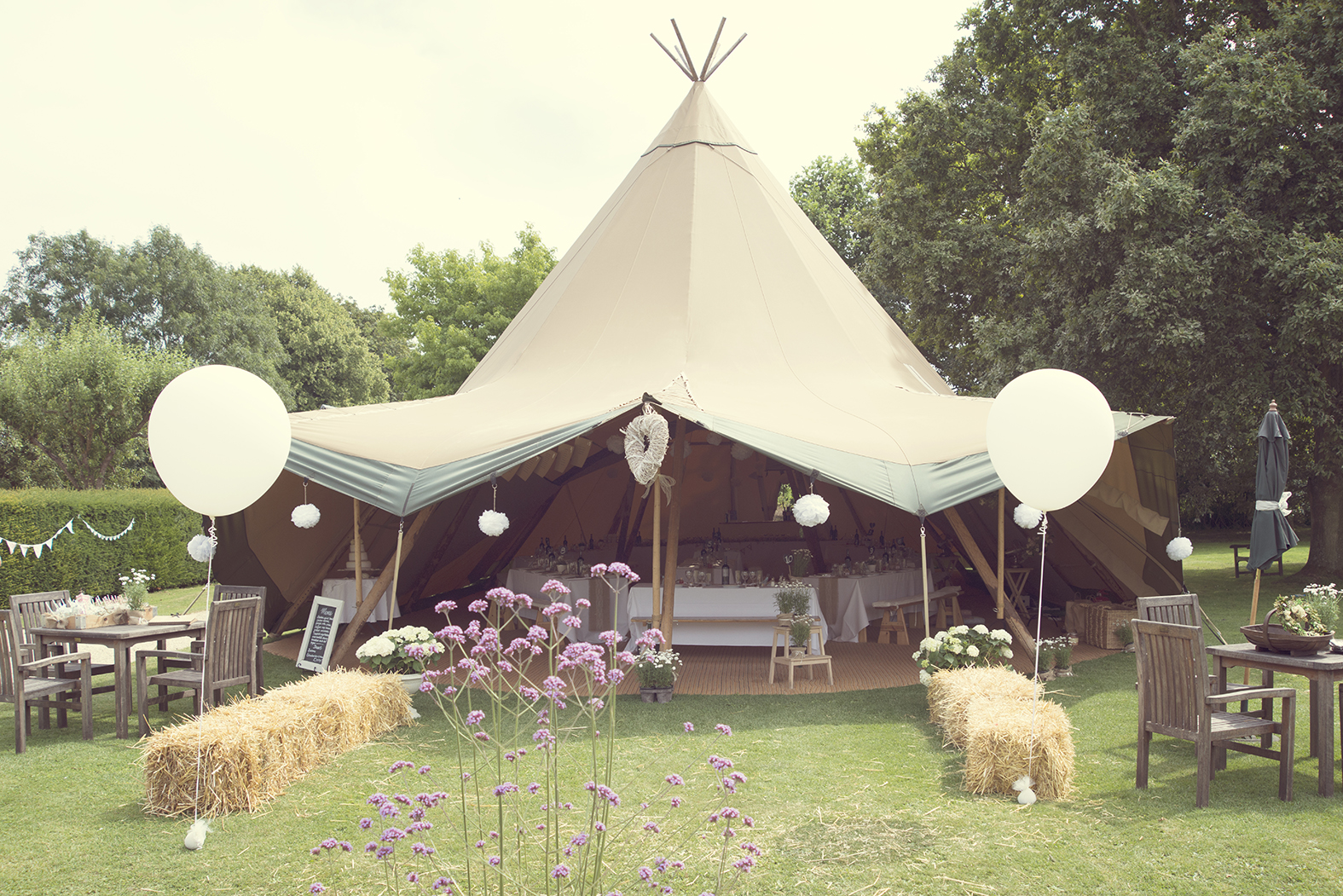 Teepee hire wedding